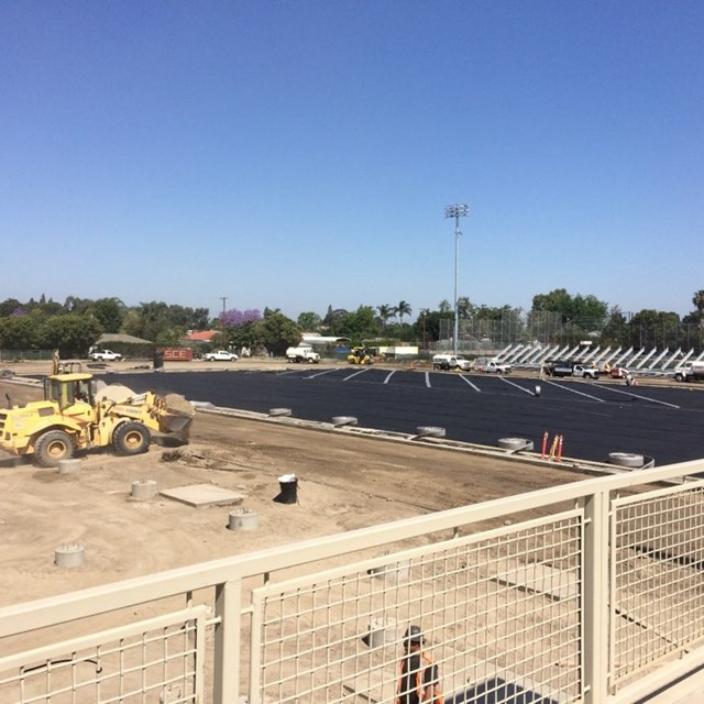 Construction of Michael A. Monsoor Stadium