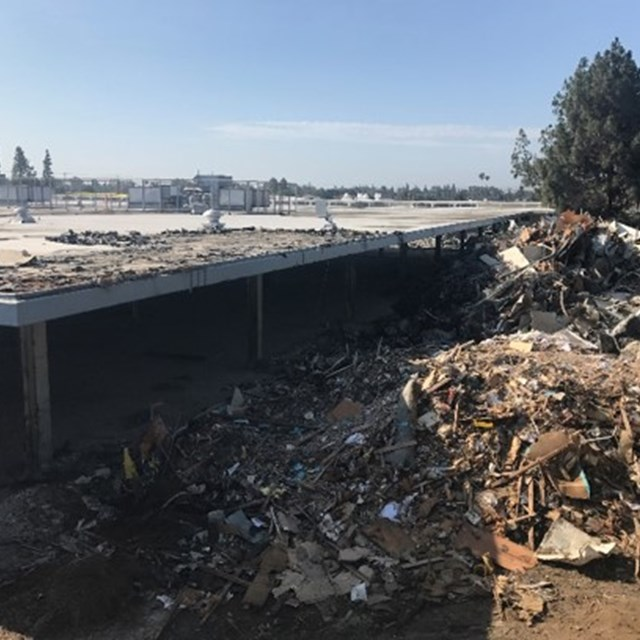 Building demolition at La Quinta High School
