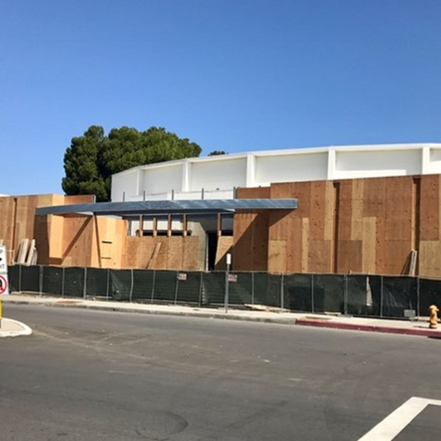 Building the new grand entrance at Don Wash Auditorium
