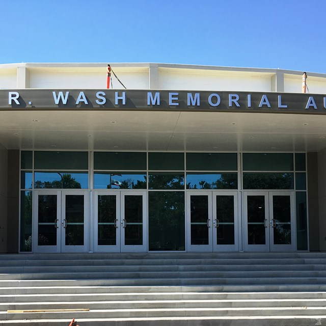 New grand entrance at Don Wash