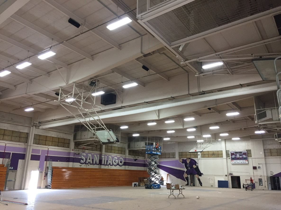 Santiago High School's gymnasium before.
